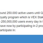 Image for the Tweet beginning: 🔥 Hot Vexanium $VEX event!