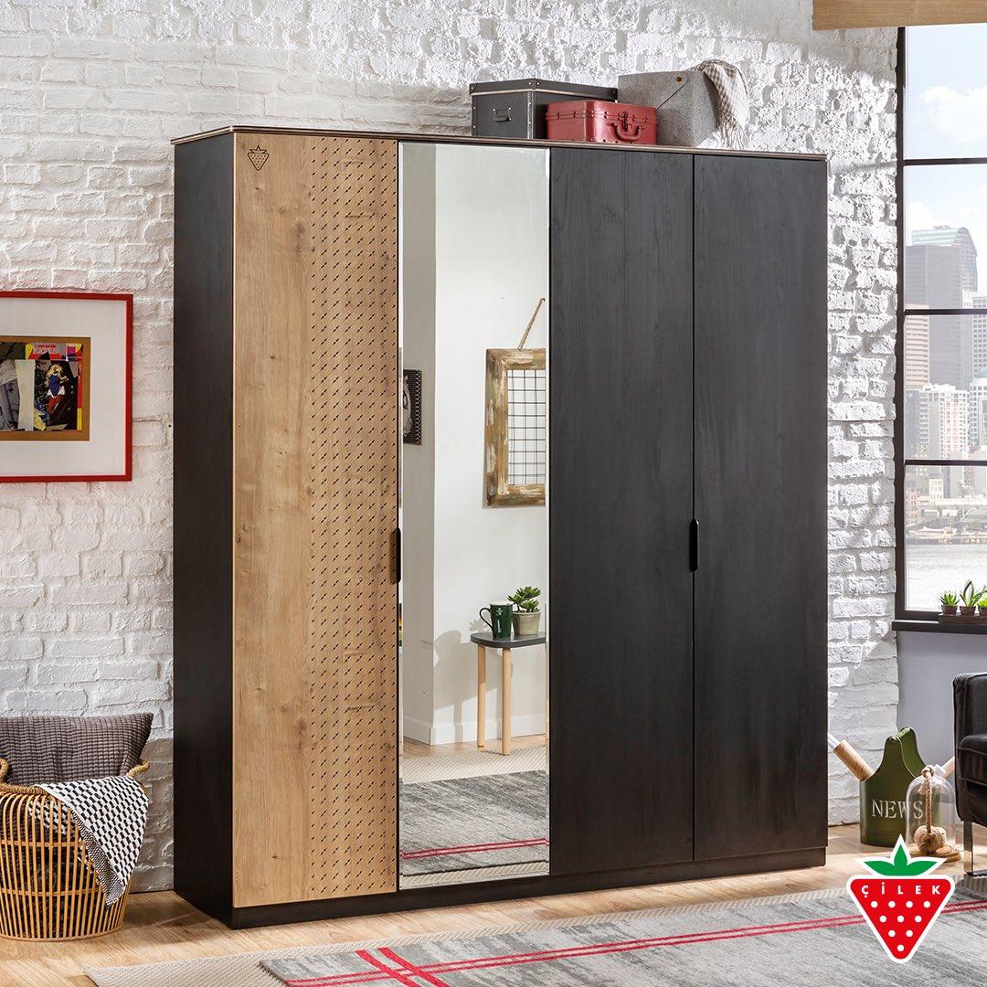 Black 4 Doors Wardrobe at your service. #cilekroom #teenroom #kidsroom #wardrobe                                        https://t.co/ZBe3uabRXy https://t.co/mrKiUSPFX9
