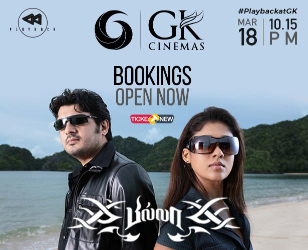 Bookings now open for #Thala * #Billa now as next film in #PlaybackatGK .. This is a treat for all thala fans to watch him potray the don role so effortlessly!! And @thisisysr bgm will be 😎😎😎