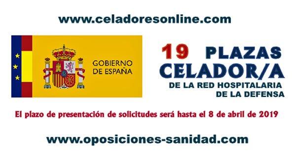 Celadores/as de la Red Hospitalaria de la Defensa en plazo de presentación del instancias hasta el 8-Abril-2019... D1YK-n0X4AErBtB