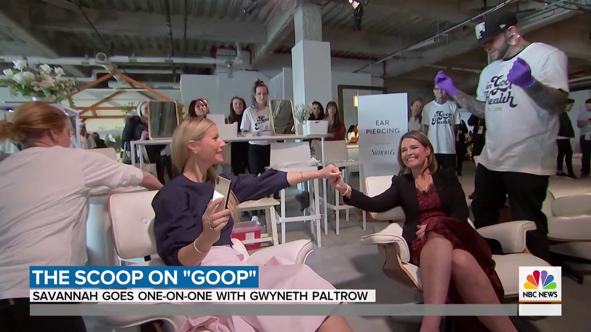 Today On Twitter Did Gwynethpaltrow Take A Break From Acting Savannahguthrie Spent A Day With The Oscar Winner And Ceo To Talk About Her Acting Future And Goop Their Time Together Took