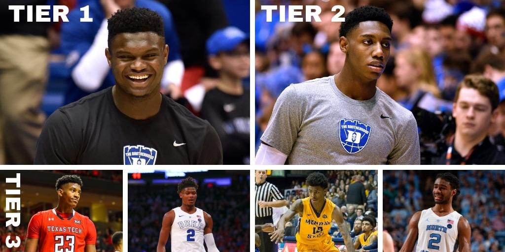On our latest NBA Draft Big Board, the prospects are separating themselves into clearly defined tiers (by @IllegalScreens)  https://fansided.com/2019/03/11/step-back-2019-nba-draft-big-board-march-update/ …
