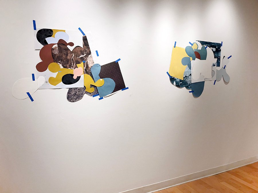 Not being constrained by the canvas along with a playful process inspired the large-scale collages by @mosesjenn in her current solo show, Ghost not Ghost. See them before they evaporate into the ether on March 31st, and get a preview on our website: http://kingstongallery.com/exhibitions/2019/march-jennifer-moses-ghost-not-ghost.php …