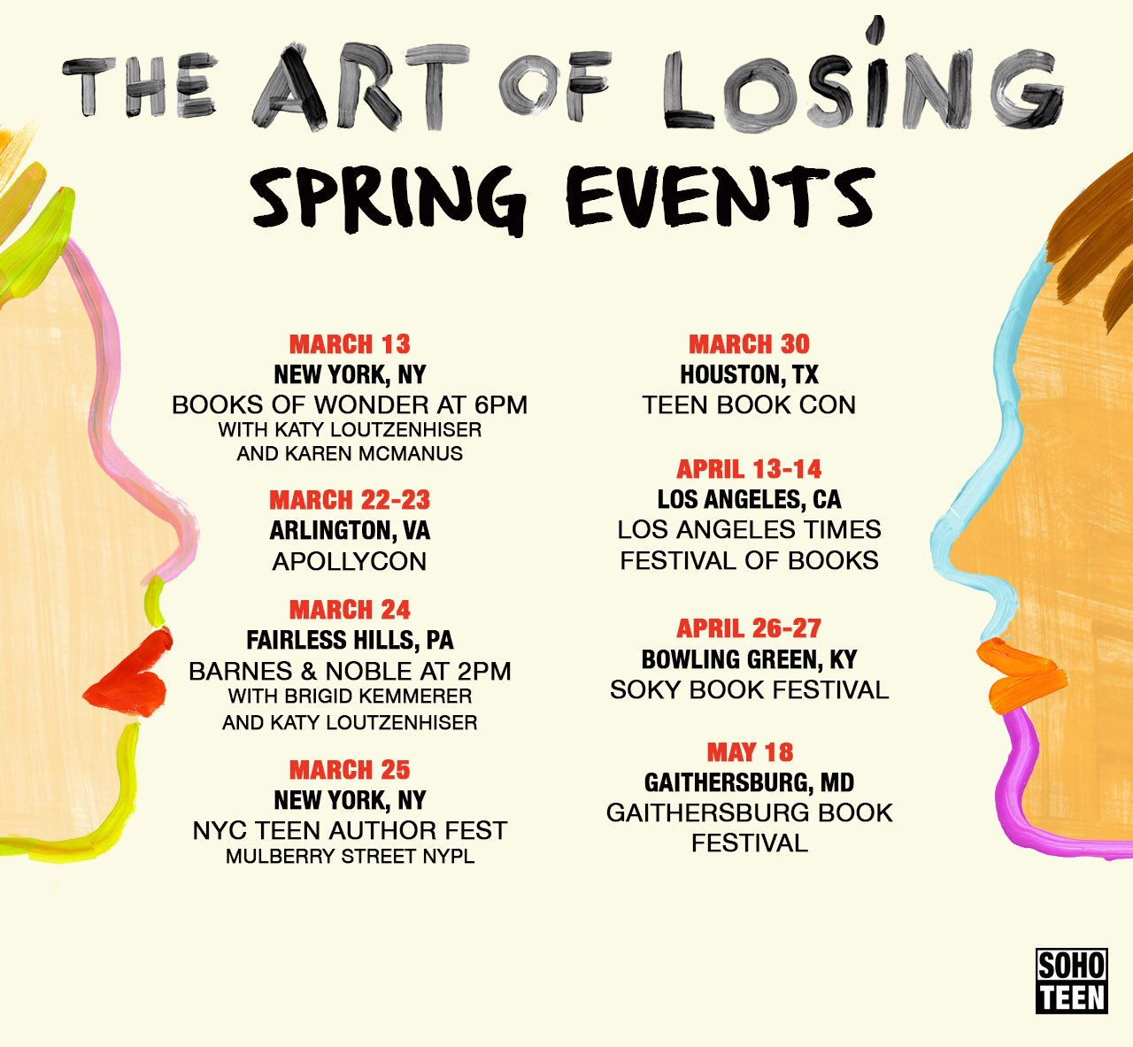 Lizzy Mason On Twitter Spring Events For The Art Of Losing I Can T Wait To See So Many Faces I Love