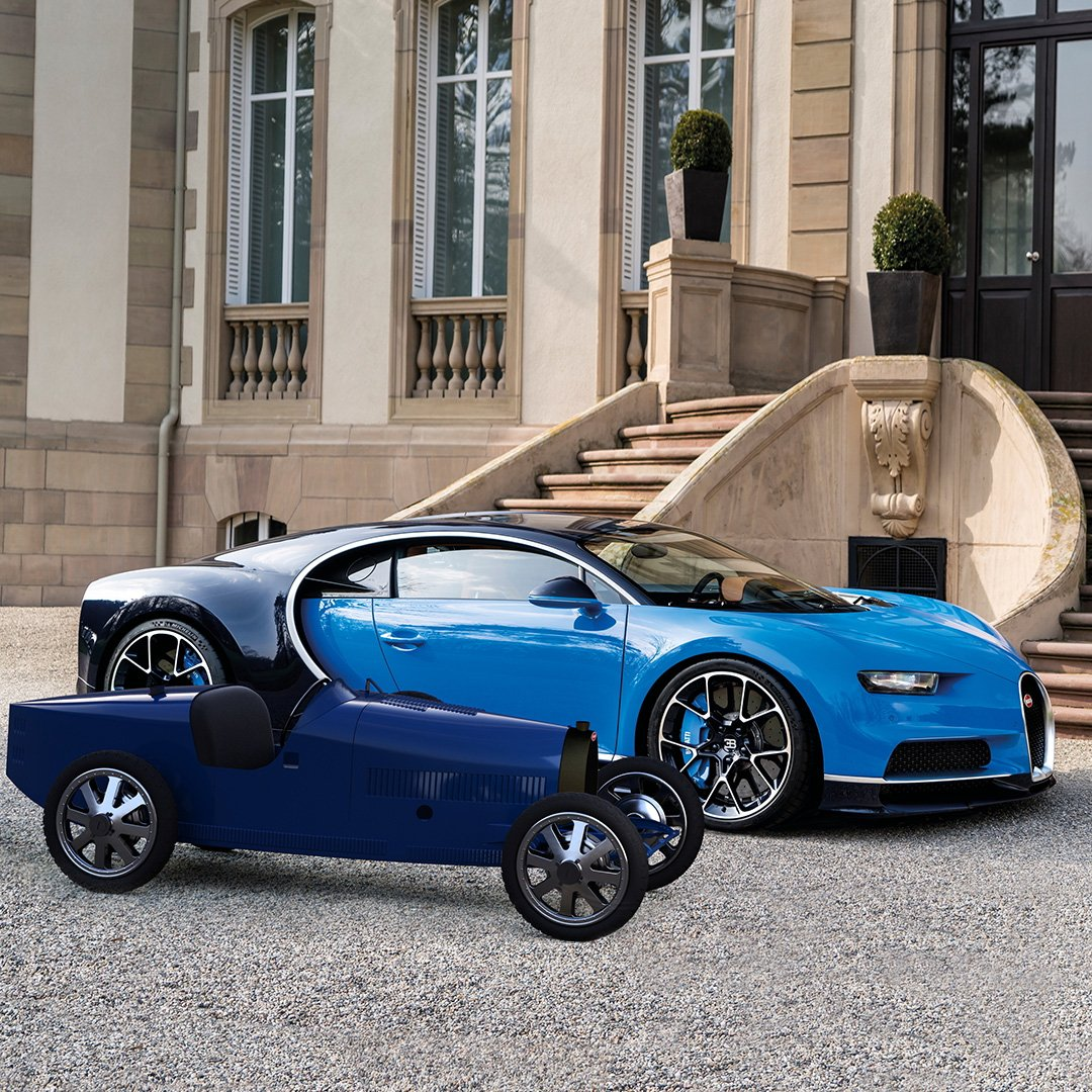 You don't need a driving license to drive this Bugatti. Presenting the revival of the Baby Bugatti II. Originally designed by Ettore for his son Roland, revived and distributed through http://bugattibaby.com  #Bugatti #gimsswiss #BugattiBabyII #BugattiLifestyle #type35baby