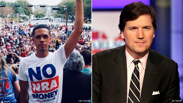 Tucker Carlson bullied and harassed me without giving me a platform to defend myself. He giggled while he told my story of surviving gun violence. Lied about my fight. But the saddest part? I'm just one on a long list of the same.  Time's up, Tucker. #FireTuckerCarlson