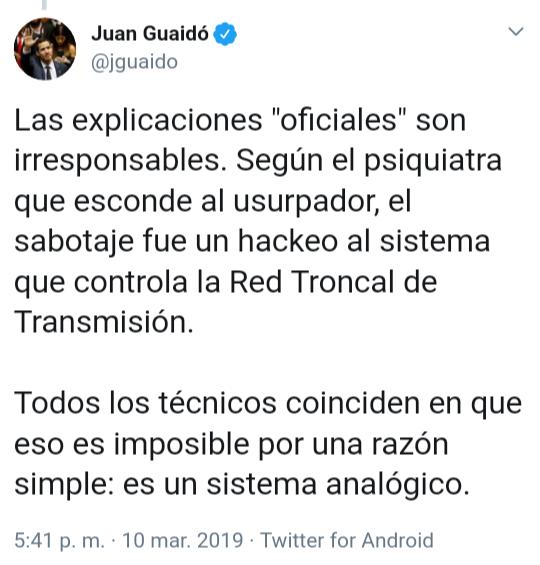El apagón venezolano, un verdadero crimen social del chavismo - Por Razon y Revolucion D1YhZjEW0AEN8Oc