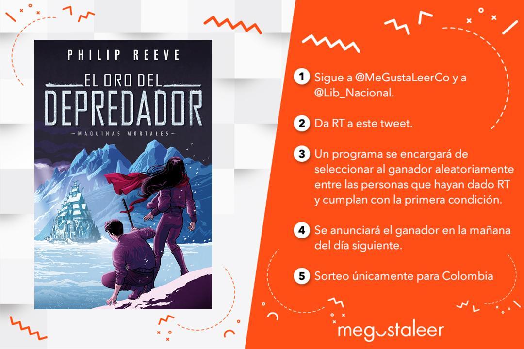 #UnLibroPorDía RT y seguir a @MeGustaLeerCo y @Lib_Nacional para ganar #ElOroDelDepredador de Philip Reeve.