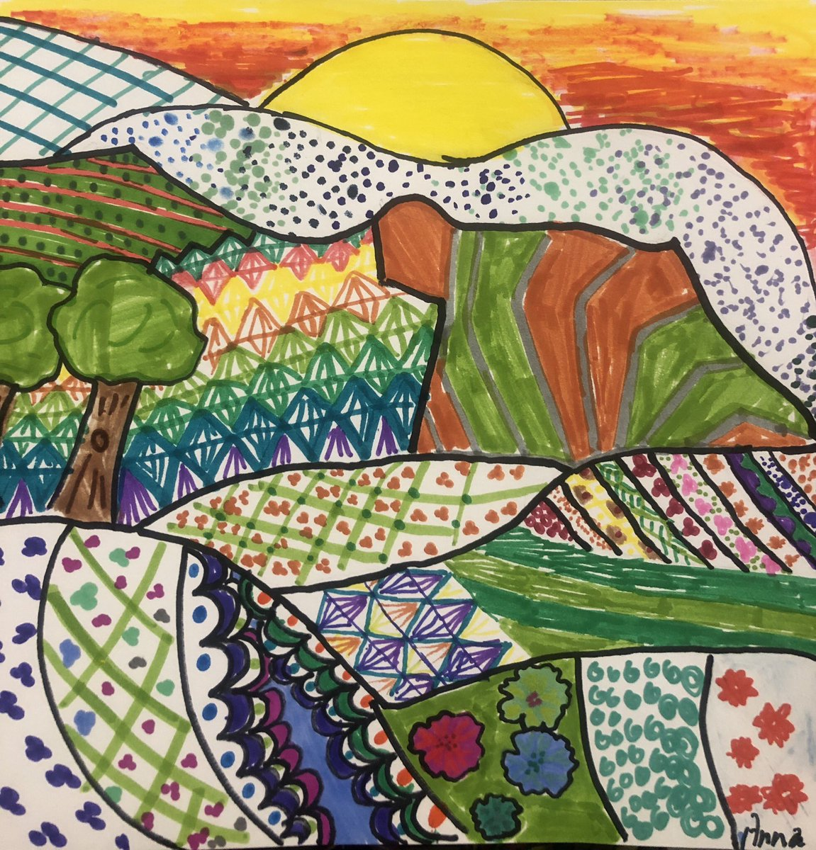I'm in love with these patterned landscapes made by out talented 4th graders <a target='_blank' href='http://twitter.com/APS_ATS'>@APS_ATS</a> <a target='_blank' href='http://twitter.com/APSArts'>@APSArts</a> <a target='_blank' href='http://twitter.com/ATS_4thGrade'>@ATS_4thGrade</a> <a target='_blank' href='http://twitter.com/ATSIdol'>@ATSIdol</a> <a target='_blank' href='https://t.co/0JCYIRxDeC'>https://t.co/0JCYIRxDeC</a>