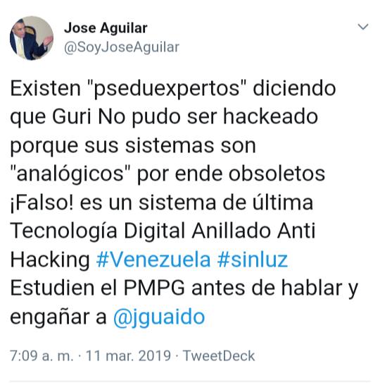 El apagón venezolano, un verdadero crimen social del chavismo - Por Razon y Revolucion D1Yp6DuX4AMtn7L
