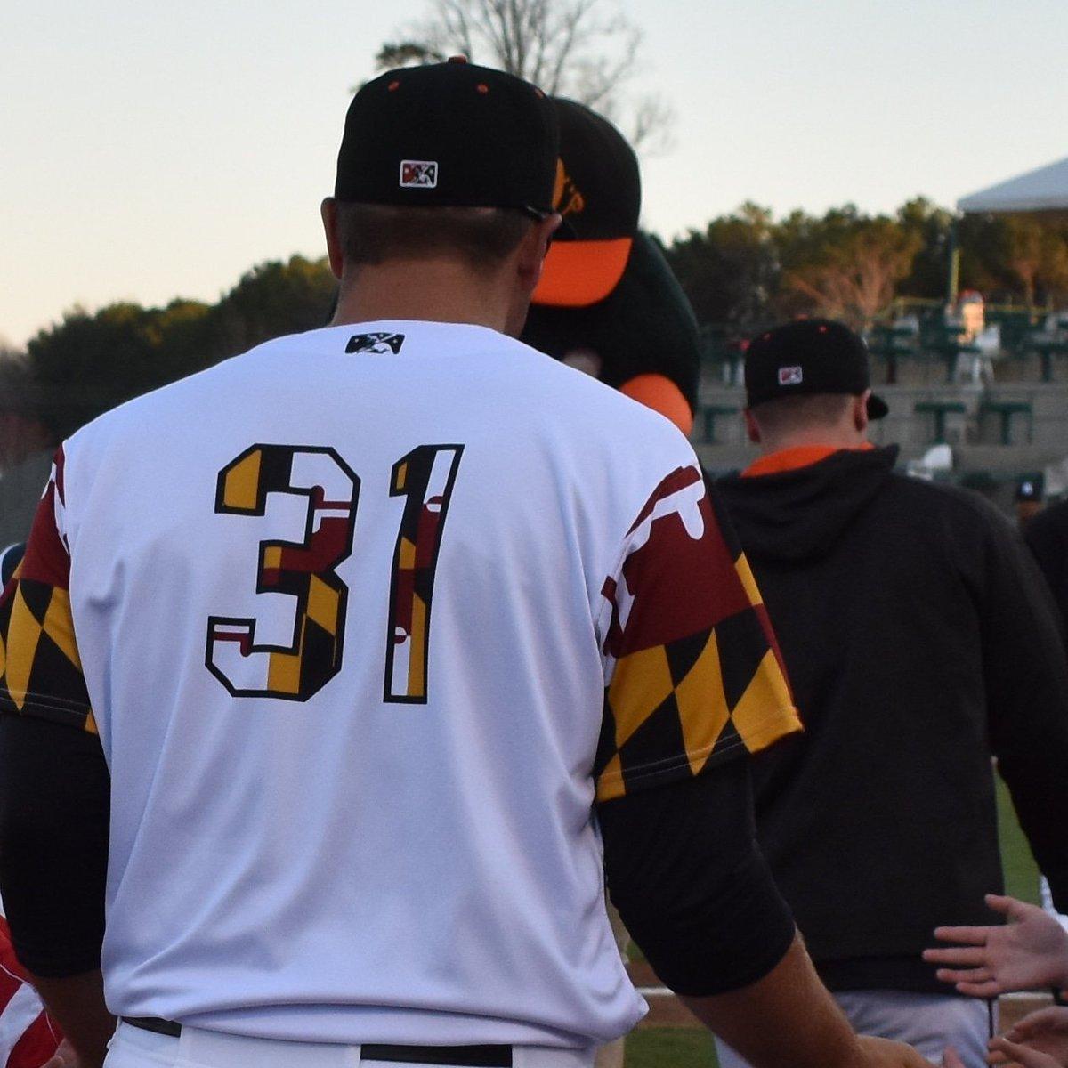 The Delmarva Shorebirds have Maryland-flag inspired jerseys ... 9f130e874f4