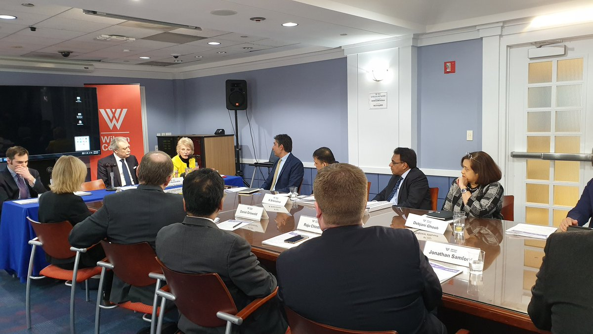 Fantastic to see the strong appreciation from US stakeholders for the work India based IT services companies are doing to bridge the skill gap in the country. #IndiaRoundtable at @TheWilsonCenter in partnership with @nasscom