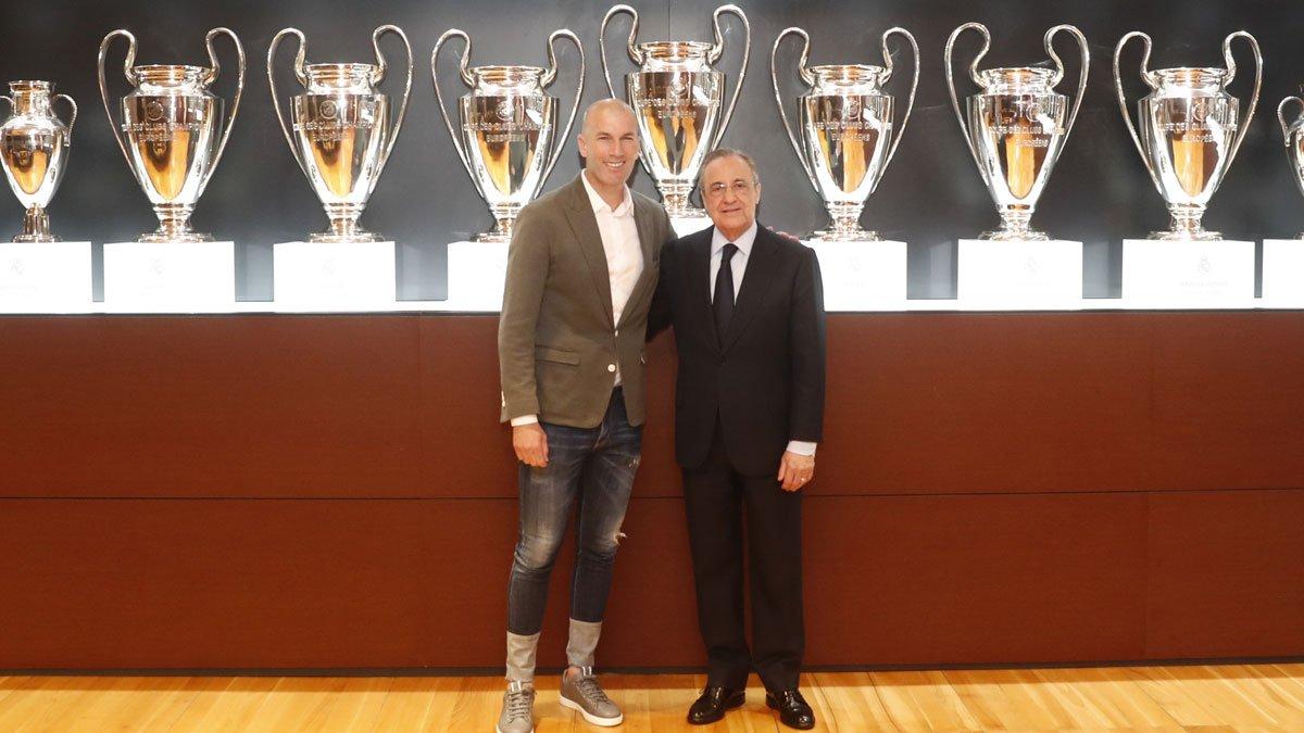 "💬 Zidane: ""I'm here because I really love this club."" #RealMadrid   #HalaMadrid"