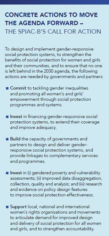 Well-designed & implemented #SocialProtection   ➡️addresses women's specific life-cycle risks ➡️increases access to services and sustainable infrastructure  ➡️promotes women's and girls' economic empowerment voice & agency   #CSW63 #GenderEquality #SPIACB  http://bit.ly/2VMRaHb