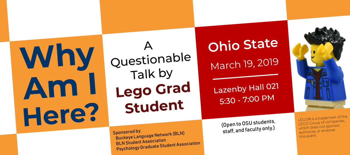 Details for my visit to @OhioState are finalized! The event is open to all OSU students, staff, faculty, and alumni, but seats are limited and you *must* register to attend. Visit this page to sign up: https://bit.ly/2XQVBmd.  Super excited to see you soon!