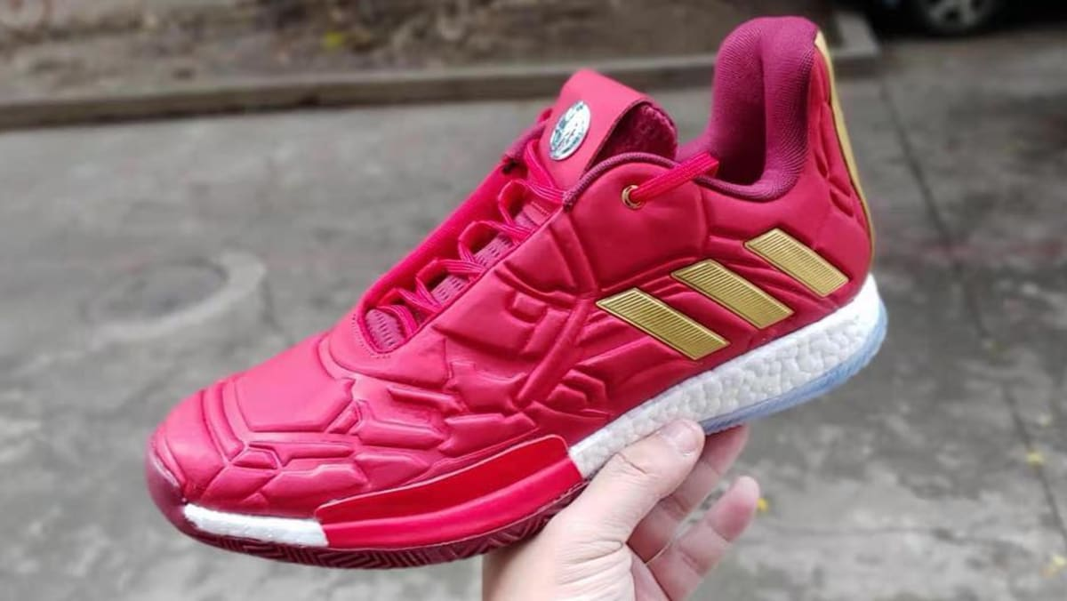 aa57dd189fbf here s a first look at the iron man adidas harden vol 3