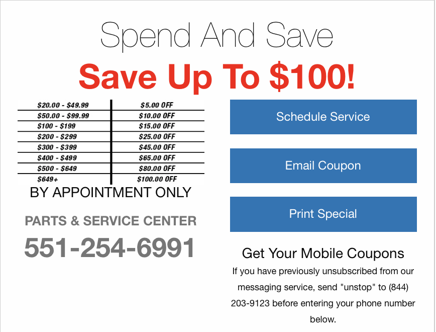 paramus honda coupons
