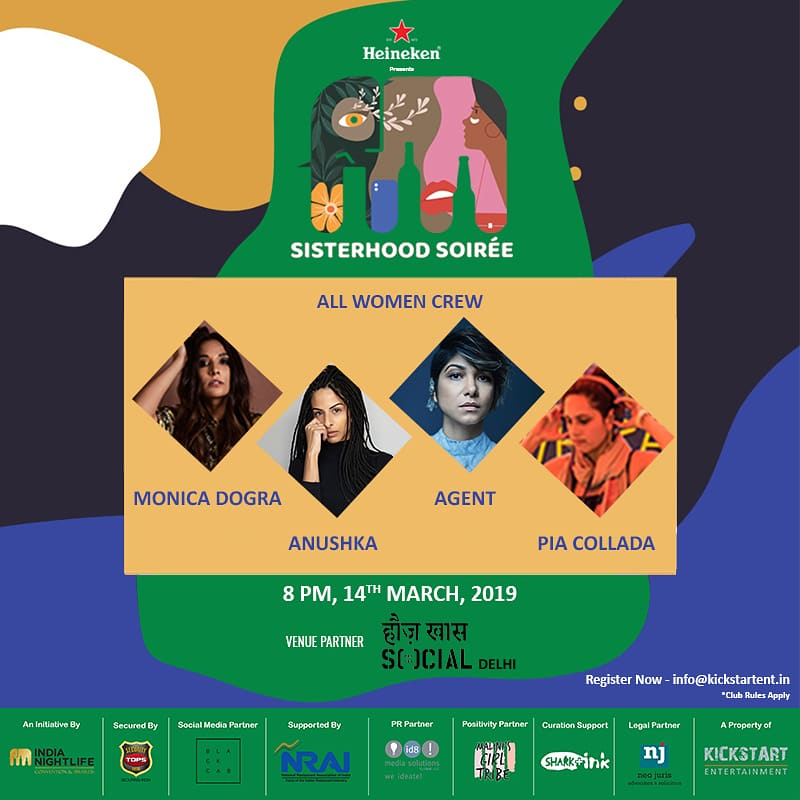 Calling out to all Delhiites!  We are coming at you with our 2nd event on 14th March at Hauz Khas Social! Be sure to block your calendars because you do not want to miss this kickass line up!   Register now!  #sisterhoodsoirée #Delhi