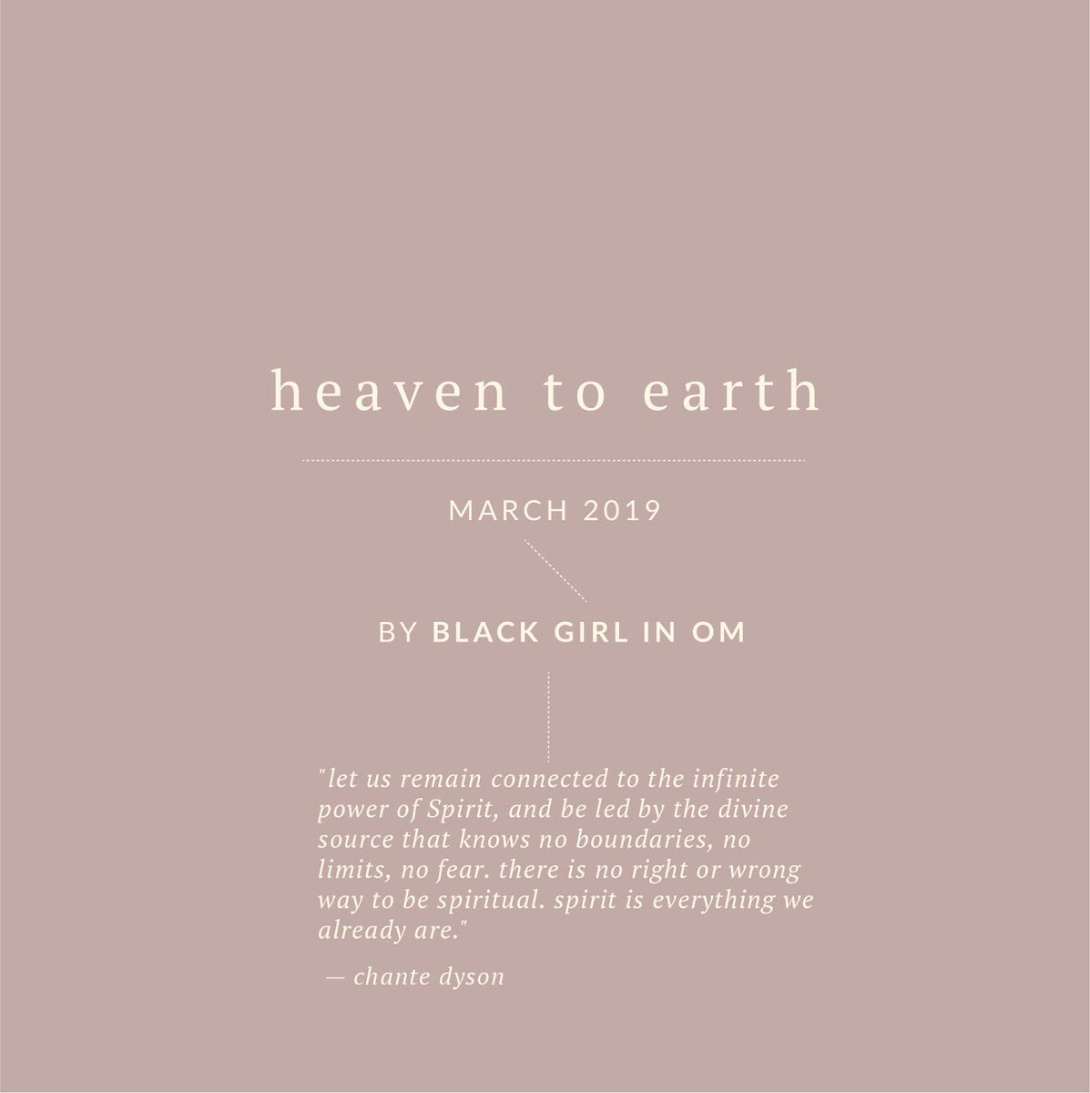 This month on Om we explore Heaven to Earth: Alternative Spirituality, Astrology, and Everything in between.   What revelations about the metaphysical realm have *you* discovered? Send your pitches to editor[at]http://blackgirlinom.com