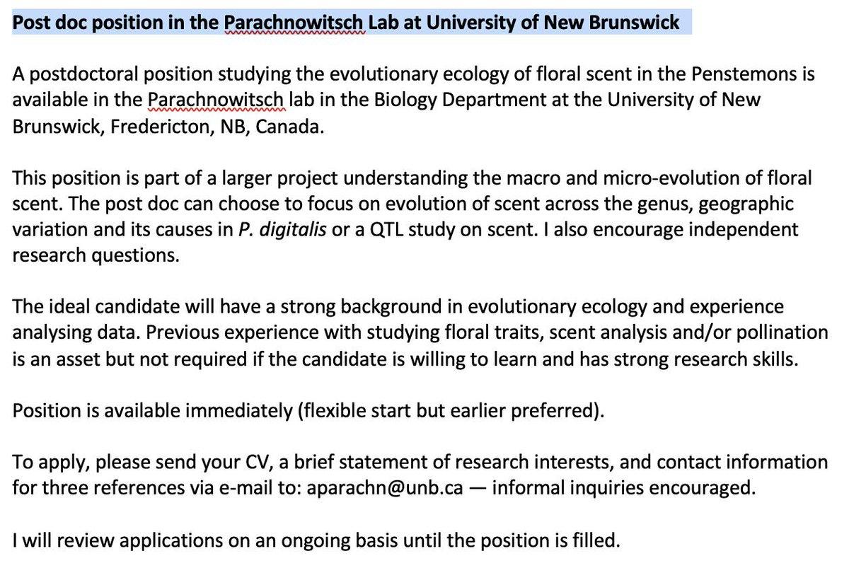 Amy Parachnowitsch PhD 🌸🐝 on Twitter: