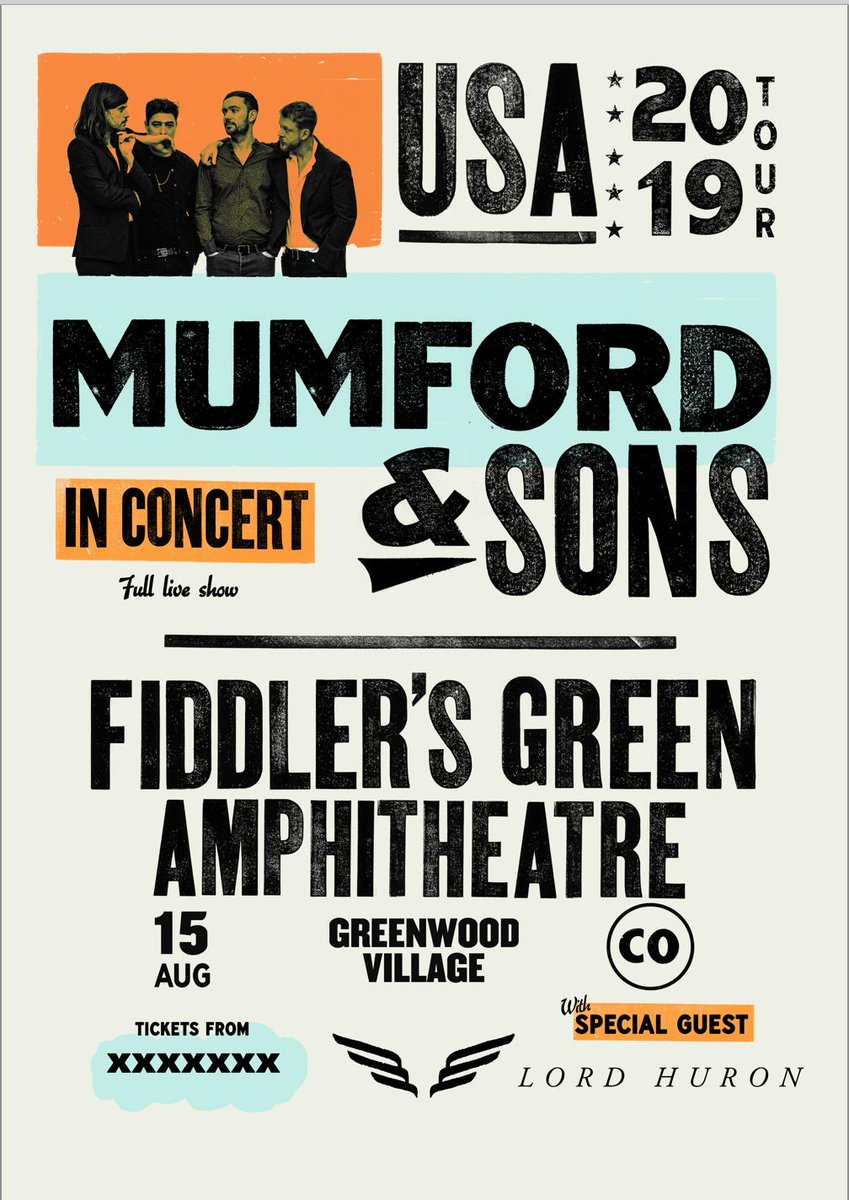 Denver friends: LH returns on August 15th to Fiddler's Green Amphitheater for a show with Mumford & Sons.