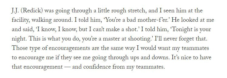How did Tobias Harris pump up his 76ers teammate J.J. Redick when he was going through a rough stretch?  👀  More from Tobias Harris and his Q&A with @ShamsCharania: 👉https://theathletic.com/861313