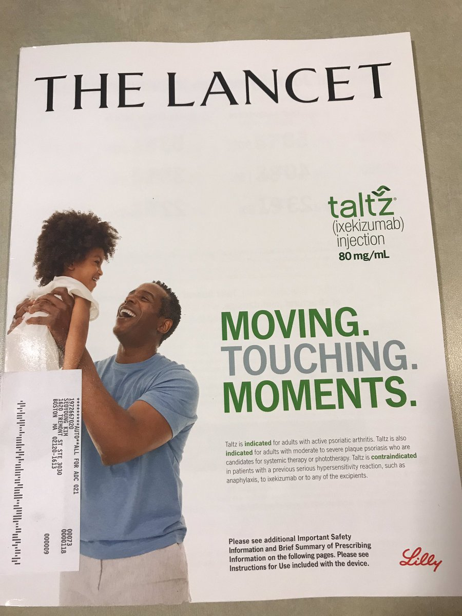 The newest Lancet has an ad on its cover?