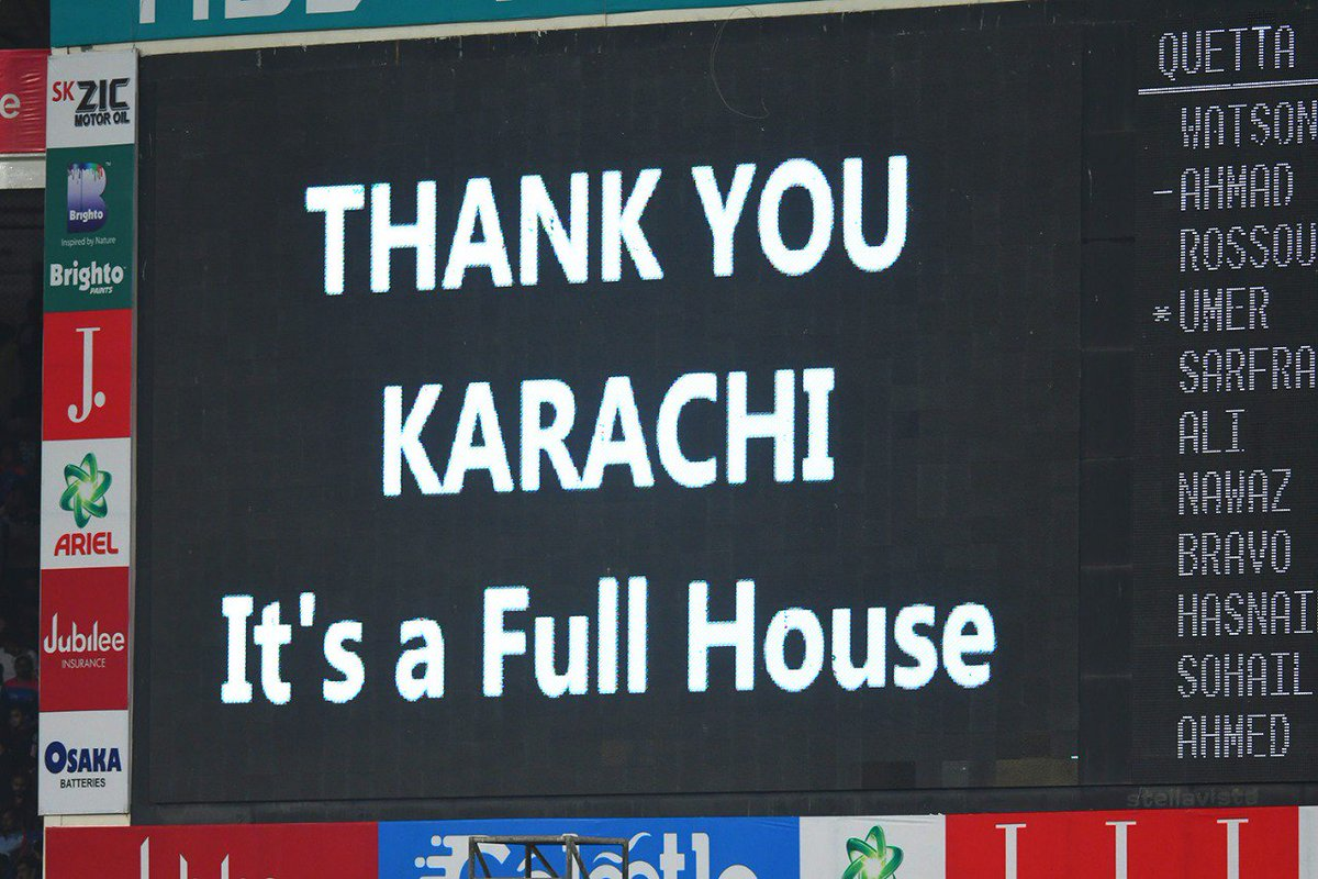National Stadium, Karachi witnesses exceptional turnout for PSL 2019 matches