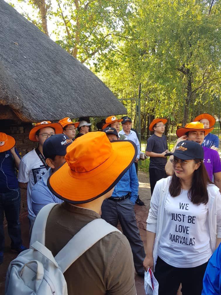 If it ain't orange it ain't the One,delegates preparing to tour the Mighty Victoria Falls @SkyzMetroFM @NetOneCellular @LazarusMuchenje @OneMoneyZw @DrMambondiani @DougMamvura @Hanniech