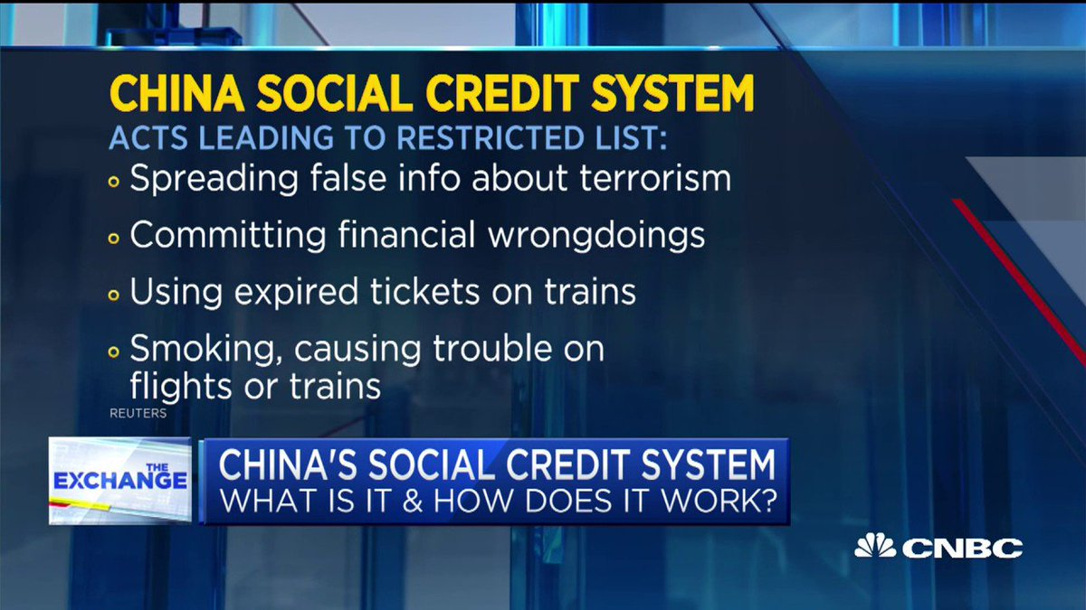 No, this isnt an episode of Black Mirror. China monitors the behavior of its citizens to determine each persons social credit. Too low a score can lead to a transportation ban. cnb.cx/2pgxtsE
