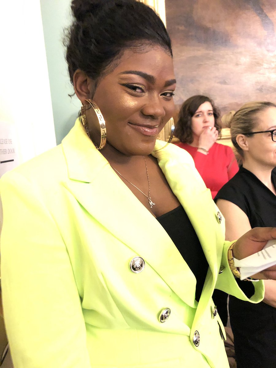 Nasher Maryam celebrating her 18th bday testifying @NYCCouncil @nycyouth about the power of #sadienash and need to expand #STARSCGI to serve more low-income young women + gender-expansive youth of color in NYC
