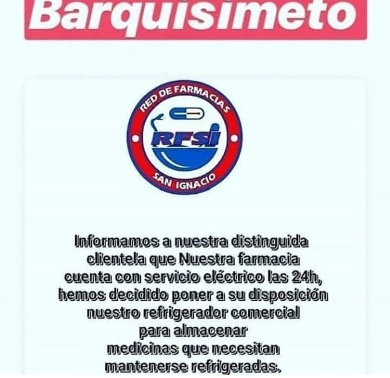 Atención Barquisimeto!!! Los que necesiten mantener medicinas refrigeradas!!! Por favor RT!!! @myteks @SomazaJesus @JuanchoGarrido @LuisPerozoPadua @frankk23 @Fredyandradea @elimpulsocom @elrockabilly @rcadavieco @cgomezavila @CarlitosSuarez @Alex_candal @milenagimon @fpetrocelli