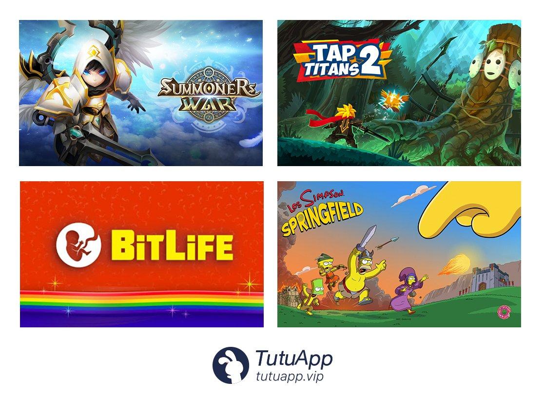 DailyGameUpdate #iOS #TutuApp 1  Summoners War 2  Tap Titans
