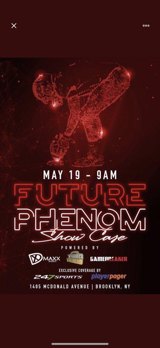 Thank you @FuturePhenomNYC for the invite! Can't wait...💯😤🌟