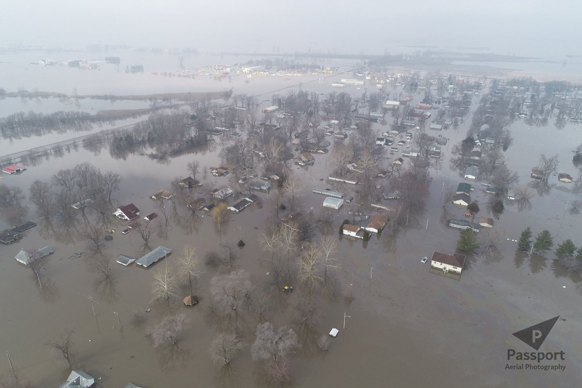 "My hometown and the surrounding area is underwater because the Missouri River is flooding! If you can, please donate to the relief and/or give this a RT! Thanks!  https://omahafoundation.org/donate/   Select a Category > ""Southwest Iowa Funds""  Southwest Iowa Funds > ""Mills County Flood Fund"""