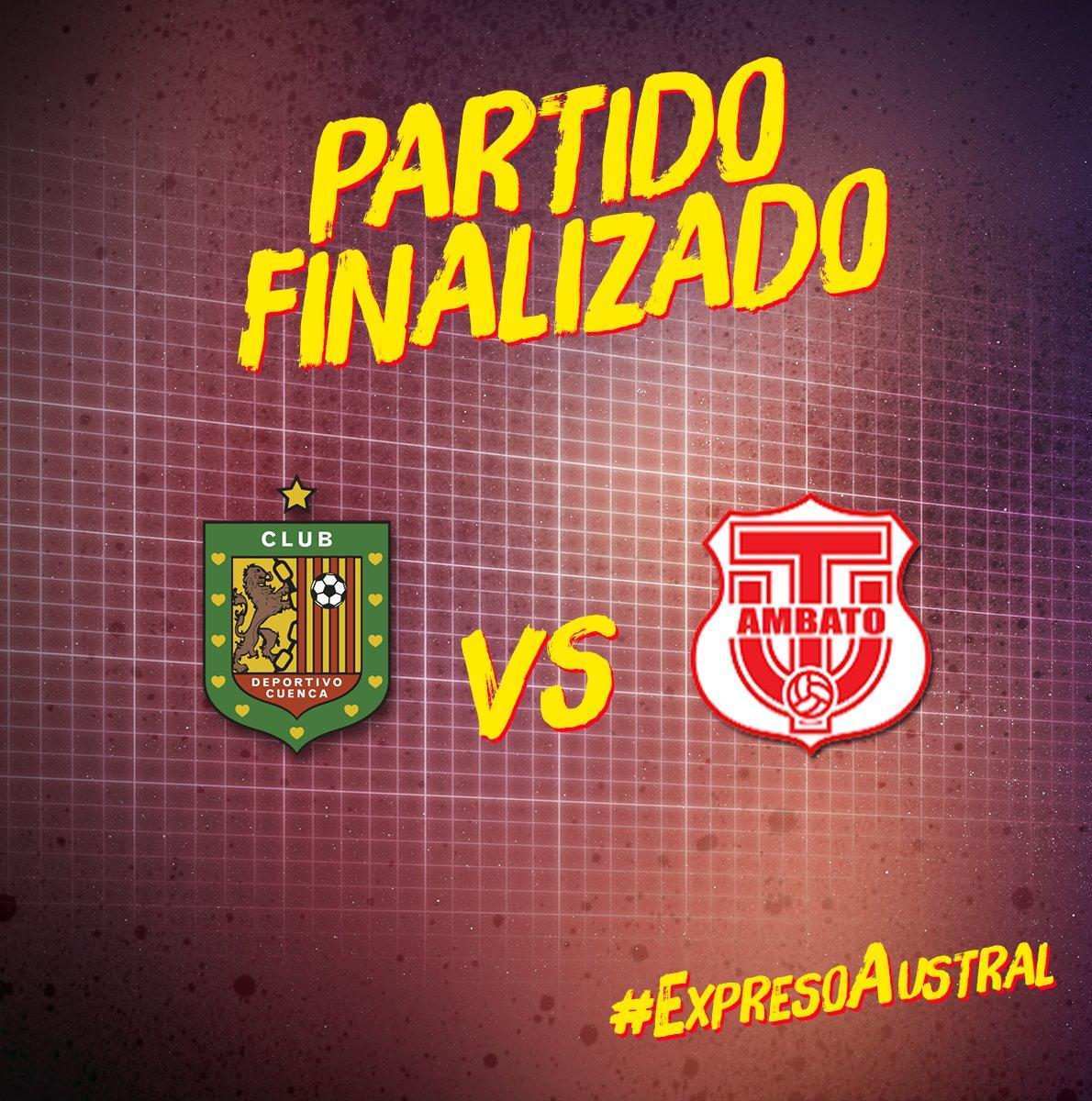 Se terminó el último partido de la #6taFecha de la #LigaProBancoPichincha #DCuenca 4 #TécnicoU 3 #VamosCuenca #ExpresoAustral
