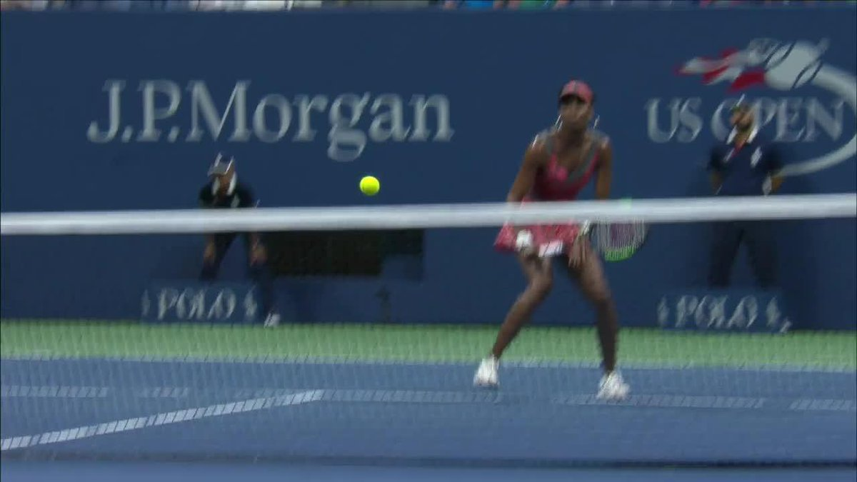 #USOpen After Dark: deft touch from Venus... 🔥🎥: 2017 QF
