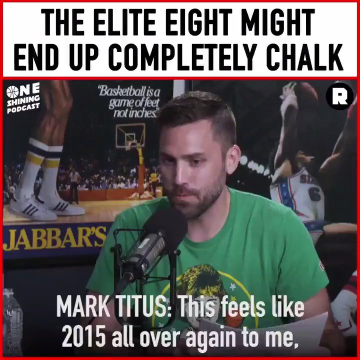 A huge gap between the top eight teams and the rest of the #MarchMadness field has @clubtrillion believing that we'll be left with all no. 1 and no. 2 seeds in the Elite Eight. This and more on the @oneshiningpod: