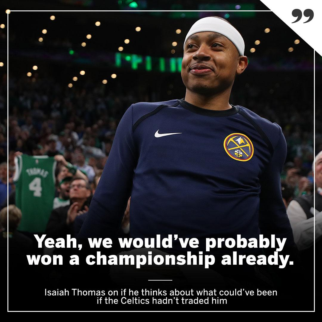 What @isaiahthomas thinks could've been with the Celtics ... �� https://t.co/wV4OTBYgzX
