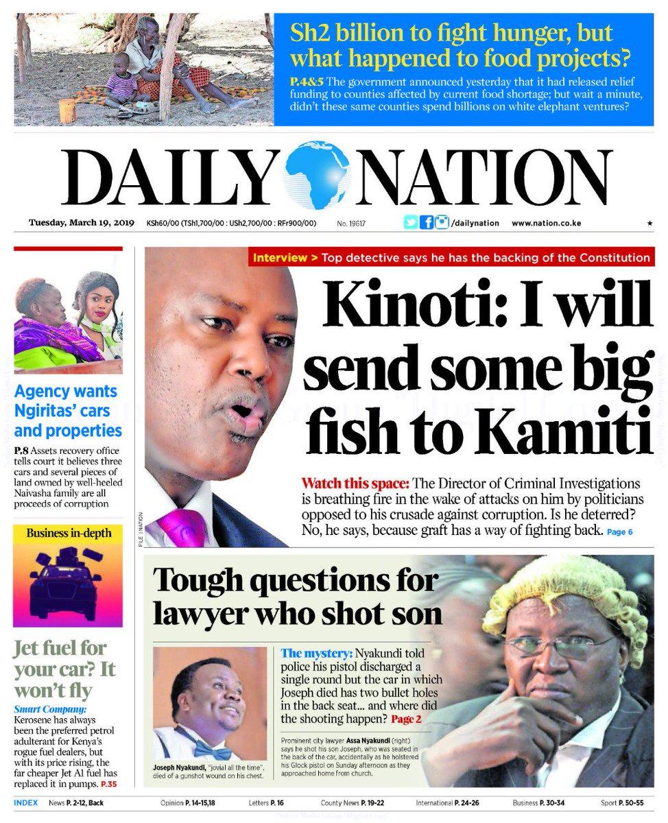 Kinoti: I will send some big fish to Kamiti http://bit.ly/2UPxX7n