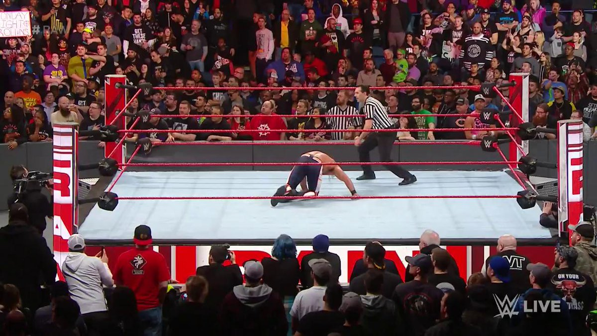 EXCLUSIVE: After #RAW went off the air, @WWERollins got a little help from his former Shield brother @TheDeanAmbrose!
