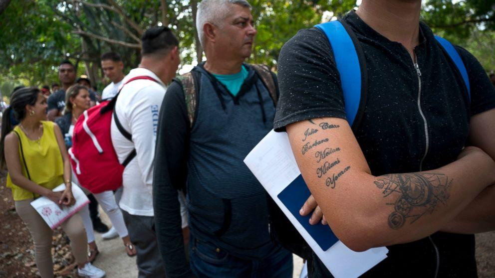 Cubans complain about US visa restrictions: https://abcn.ws/2TQhCm5