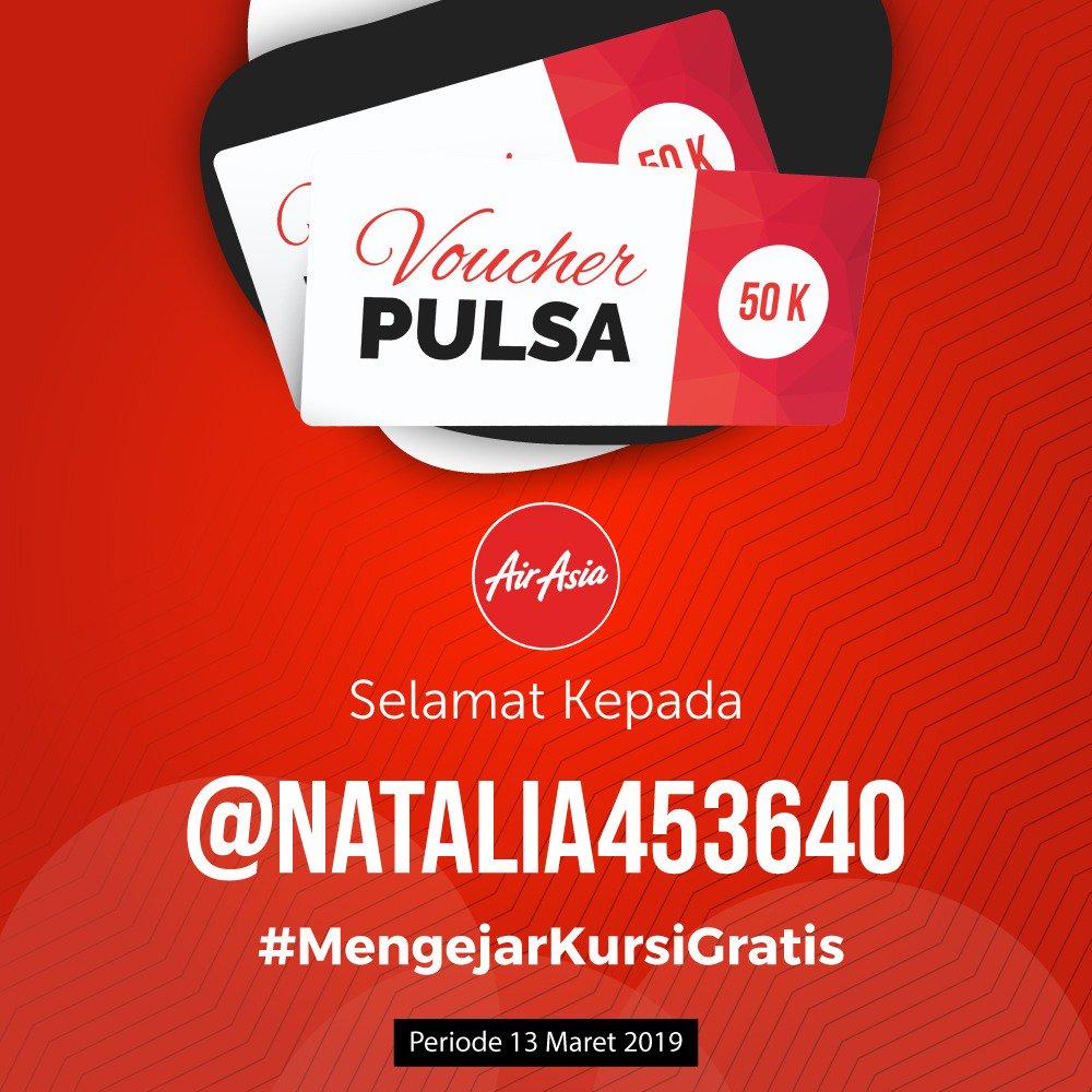 Selamat buat @natalia453640 sebagai pemenang beruntung pulsa 50K di kuis retweet & reply #MengejarKursiGratis @EnjoyKuis periode 13 Maret 2019.   Tunggu DM Minjoy ya!