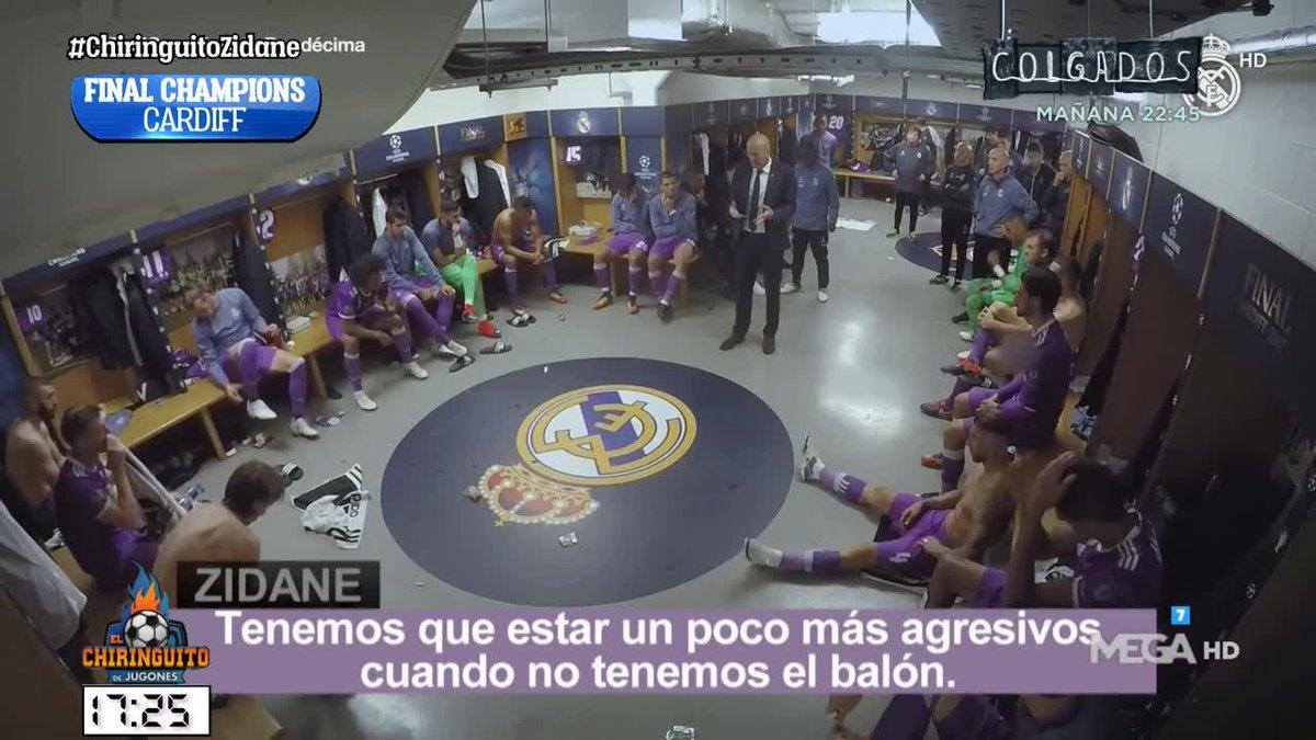 Difícil CONECTAR mejor con un VESTUARIO. Recordamos las CHARLAS MÁS ÉPICAS de Zidane con @Borjamazarro8 en #ChiringuitoZidane