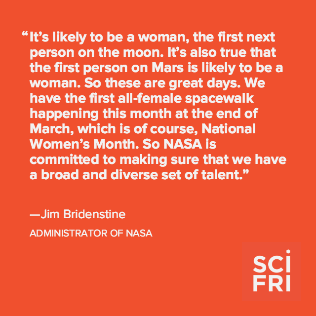 Who will be the next to step foot on the moon? Here's what the head of @NASA has to say: http://scifri.me/3z1