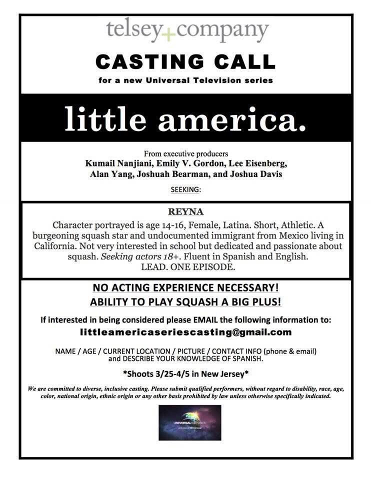 Casting call: 14-16 yo Latina.