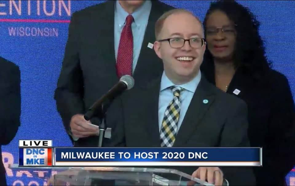 Today was a special day. I'm proud to be a national officer, serving as Secretary of @TheDemocrats, but even prouder today to be a Wisconsinite. Now, we get to show off Milwaukee and Wisconsin to the world! #Milwaukee2020