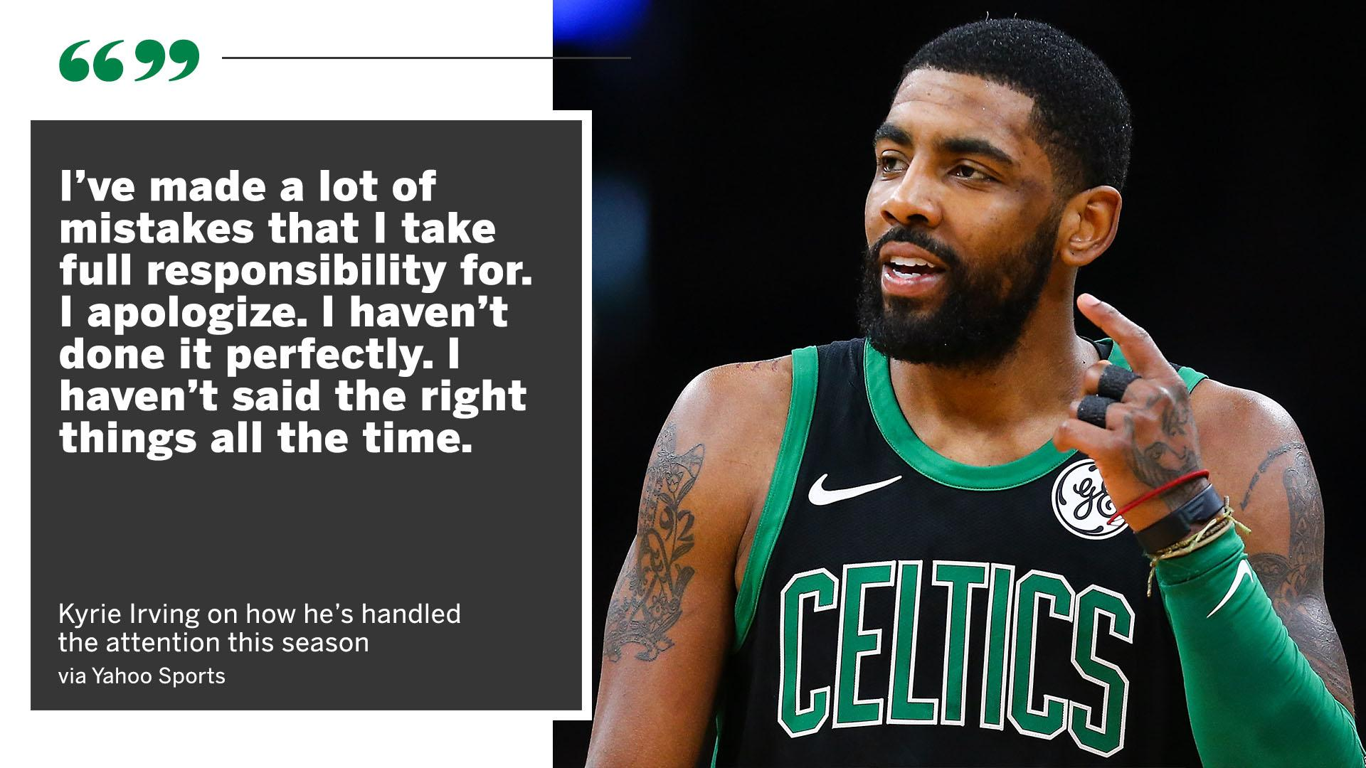 Kyrie owns up to his mistakes this season. https://t.co/k6stYwZH5S