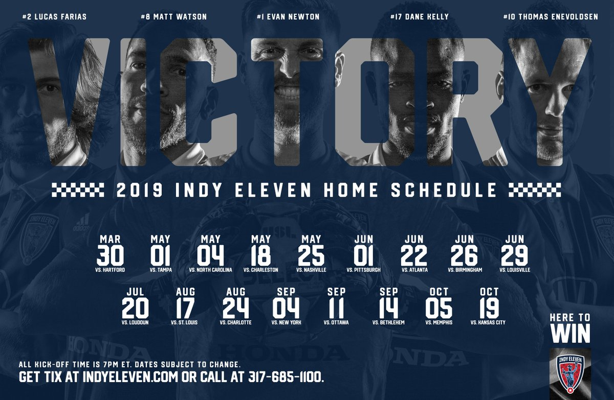 2⃣2⃣ Boys in Blue 🔵 1⃣7⃣ games at @LucasOilStadium 🏟️ 1⃣8⃣ days until we're back home 🏡  Will you be there?  🎟️Single-game tickets➡️ https://www.ticketmaster.com/indy-eleven-tic%E2%80%A6/artist/1976823 … 8⃣-Ticket Flex, group and more➡️ http://IndyEleven.com/Tickets