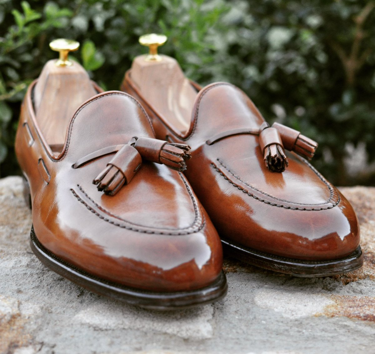 """2bc1bf4130 Image from tomorrow s article covering Crockett and Jones Hand Grade shoes.  This image  my Hand Grade """"Cavendish"""" in tan antique calf."""